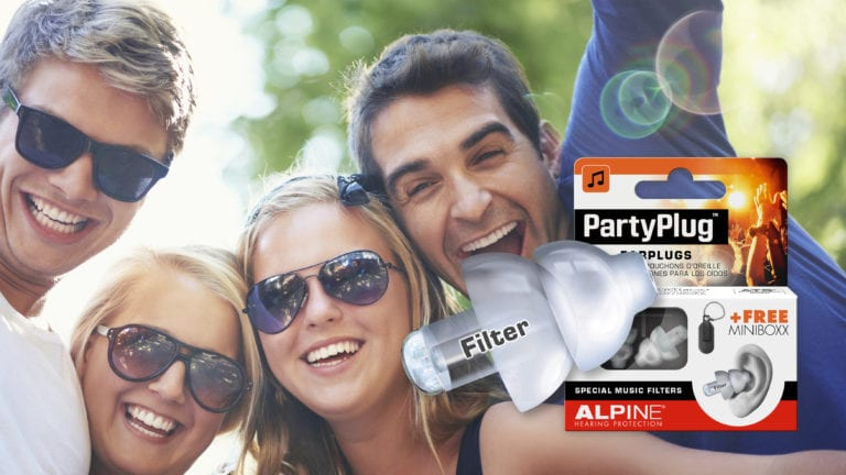 Alpine PartyPlug with picture friends
