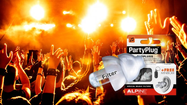 Alpine PartyPlug with picture hands new
