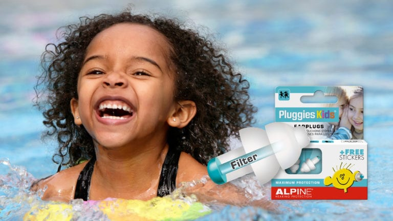 Alpine Pluggies Kids with picture swimming