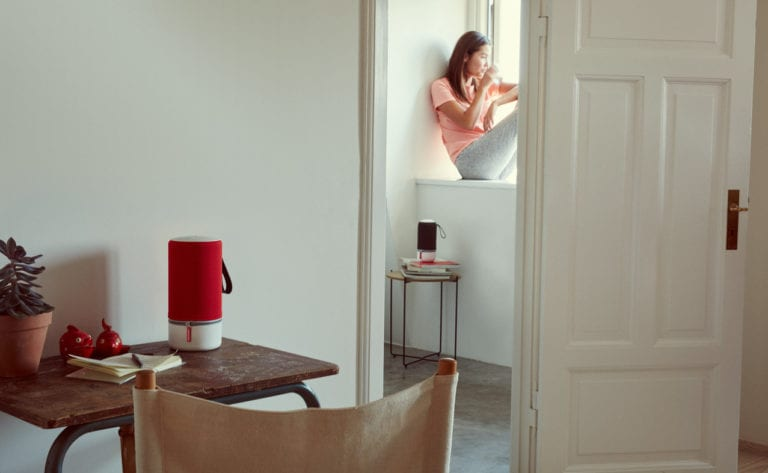 Libratone Sitting in Window ZIPP RED LOW