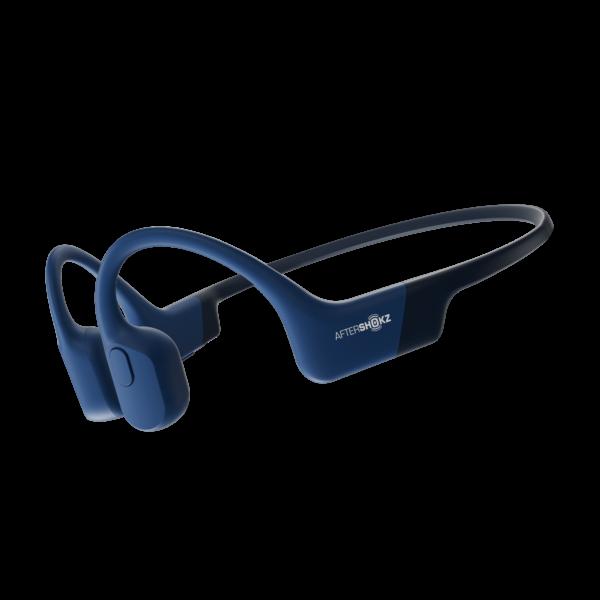 Blå Aftershokz Aeropex hodetelefoner